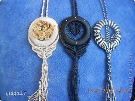 Вот такие вот кулоны плела на подарки))) фото 1