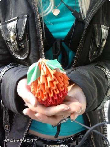 Оригами лебеди) фото 2