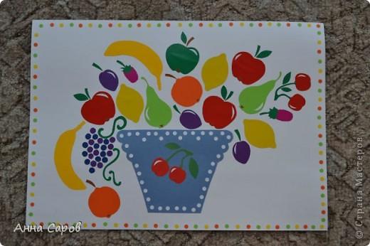 """Делала аппликации в детский сад на тему """"Урожай"""".  Фрукты и ягоды получились вот такими.  фото 1"""
