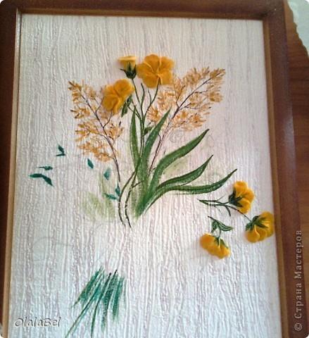 Панно. Цветы из соленого теста. Фото с мобильного телефона...(((((( фото 2