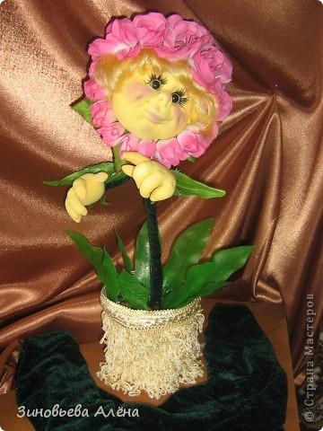 """Давным-давно было обещано тогда ещё близкой подруге,а теперь уже куме,сшить цветочек в горшке.Никак не могла придумать,как это сделать.СПАСИБО """"СТРАНЕ МАСТЕРОВ"""" и всем мастерицам за помощь в осуществлении желания. фото 4"""