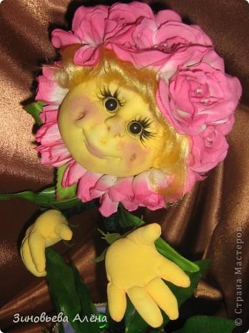"""Давным-давно было обещано тогда ещё близкой подруге,а теперь уже куме,сшить цветочек в горшке.Никак не могла придумать,как это сделать.СПАСИБО """"СТРАНЕ МАСТЕРОВ"""" и всем мастерицам за помощь в осуществлении желания. фото 1"""