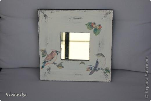 Птицы финского леса- продолжение))) Зеркало, горшочки и кормушка для птиц)))) фото 1