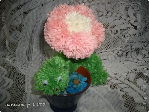 Цветочек с гусеничкой фото 1