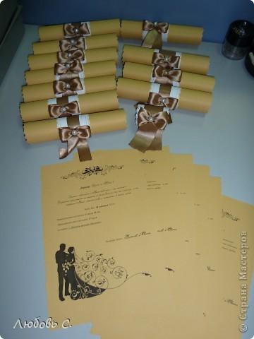 Мои первые пригласительные. Всего 35 шт. Остальные аксессуары к этой свадьбе можно посмотреть здесь http://stranamasterov.ru/node/400446 фото 1