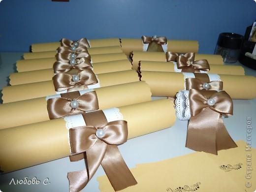 Мои первые пригласительные. Всего 35 шт. Остальные аксессуары к этой свадьбе можно посмотреть здесь http://stranamasterov.ru/node/400446 фото 2
