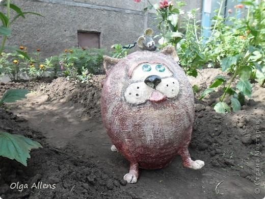 """Садовое повторение моего кота """" Кубик"""" . http://stranamasterov.ru/node/314526 Тут он гораздо больше и внушительнее)) фото 2"""