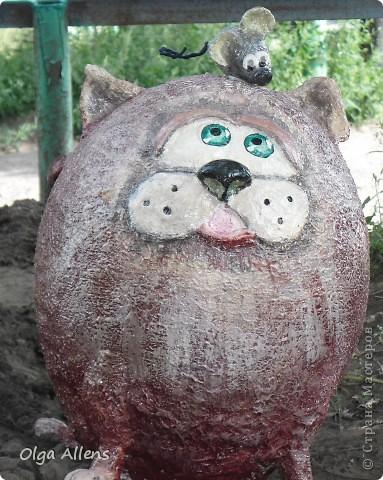 """Садовое повторение моего кота """" Кубик"""" . http://stranamasterov.ru/node/314526 Тут он гораздо больше и внушительнее)) фото 1"""