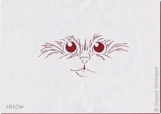 Обожаю кошек. Подумала, может и мне поучаствовать в конкурсе от Хомячка, но так и не поняла, как туда вставить свою работу. Так, что просто показываю результат. фото 2
