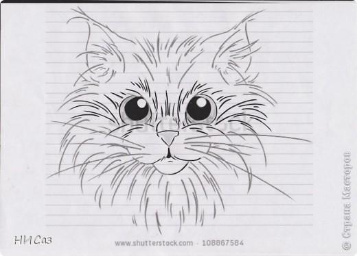 Обожаю кошек. Подумала, может и мне поучаствовать в конкурсе от Хомячка, но так и не поняла, как туда вставить свою работу. Так, что просто показываю результат. фото 3