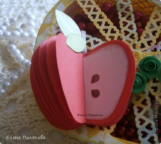 Близится осень, пора сбора урожая...  Фрукты, овощия, ягоды...  Все очень вкусное и полезное. Вот и один из таких замечательных даров природы - ЯБЛОКО!!!  вдохновил меня на создание ажурной чудо-шкатулки  фото 3