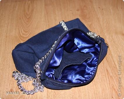 моя первая сумочка из старого джинса Для любимой племяшки! фото 6