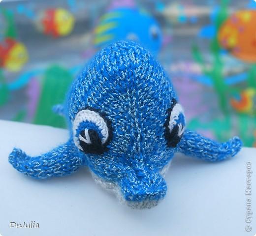 Вот такого дельфинчика связала я для своей дочки. Спасибо Irina-Iriss за подробное описание вязания http://www.liveinternet.ru/users/irina-iriss/post203491963 фото 2
