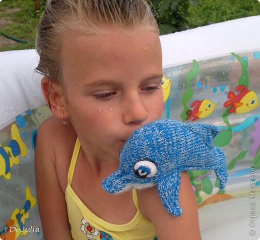 Вот такого дельфинчика связала я для своей дочки. Спасибо Irina-Iriss за подробное описание вязания http://www.liveinternet.ru/users/irina-iriss/post203491963 фото 6