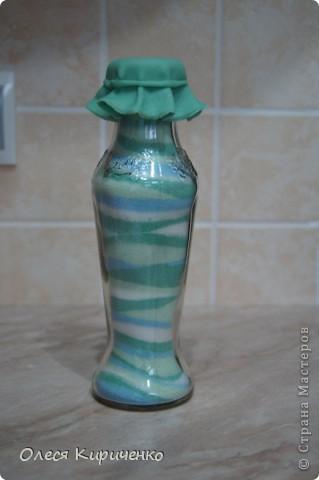 """Здравствуйте, мастера и мастерицы! Вот решила попробовать сделать """"насыпушки"""", вроде получилось) Почти радуга, тольго голубой бутылочки не хватает... фото 4"""