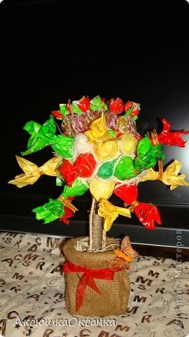 первое мое конфетное деревцо!!!!!!  фото 2
