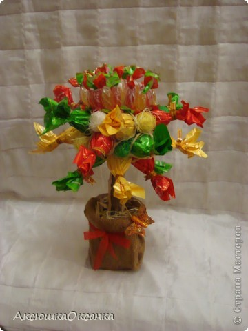 первое мое конфетное деревцо!!!!!!  фото 1