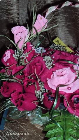 Здравствуйте всем! Это моя первая корзиночка на заказ! Очень волнуюсь, ещё не отдавала. Подарок маме от дочери. Большущее спасибо ПроБелке за её розы! Прям источник вдохновения какой-то!)))))Прошу оценить! фото 6