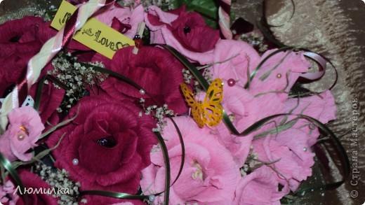 Здравствуйте всем! Это моя первая корзиночка на заказ! Очень волнуюсь, ещё не отдавала. Подарок маме от дочери. Большущее спасибо ПроБелке за её розы! Прям источник вдохновения какой-то!)))))Прошу оценить! фото 4