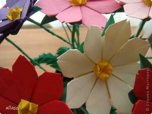 Космея оригами фото 7