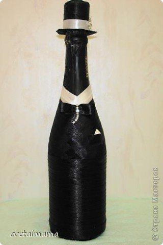 Поделка изделие Свадьба Аппликация ПАРА Бисер Бусинки Бутылки стеклянные Канва Клей Кружево фото 3.