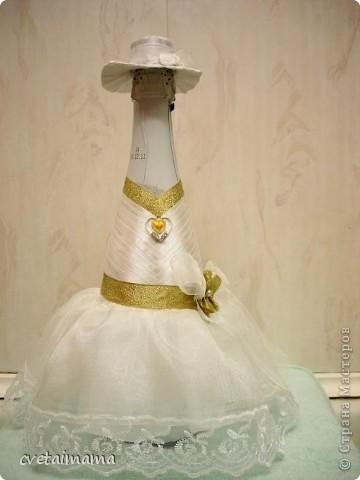 Поделка изделие Свадьба Аппликация ПАРА Бисер Бусинки Бутылки стеклянные Канва Клей Кружево фото 4.