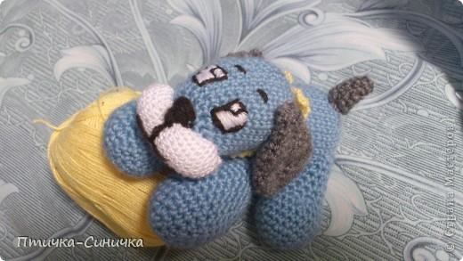 Дорогие Рукодельницы Страны Мастеров!  Хочу показать вам мою первую в жизни связанную игрушку! Знакомьтесь - Пёсик Тимошка! На схему наткнулась случайно и решила попробавать!  Нашла описание вот тут    http://www.babybabies.ru/vyazhem-sami/totoshka.  Только там собачку зовут Тотошка ну а я своего назвала Тимошка! фото 7