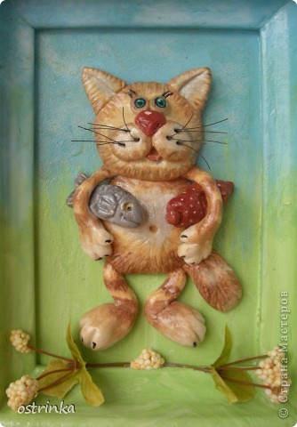 Долго любовалась на великолепных котиков из рук Марины Архиповой http://stranamasterov.ru/node/86293. Захотелось сделать что-то похожее.  фото 1