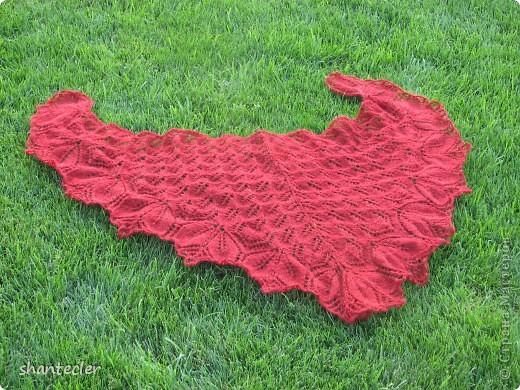 Нежный и воздушный палантин из пряжи Nida (100 гр - 565 м) Ширина шарфа - 50 см, длина - чуть больше двух метров. Расход - 150 гр.  фото 3