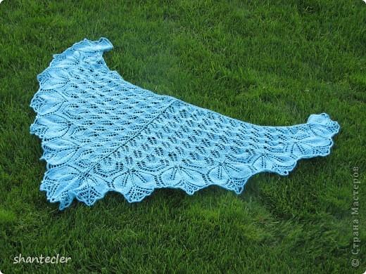 Нежный и воздушный палантин из пряжи Nida (100 гр - 565 м) Ширина шарфа - 50 см, длина - чуть больше двух метров. Расход - 150 гр.  фото 5