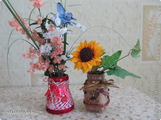 Баночки из-под кофе в очередной раз превратились в маленькие вазочки. фото 2