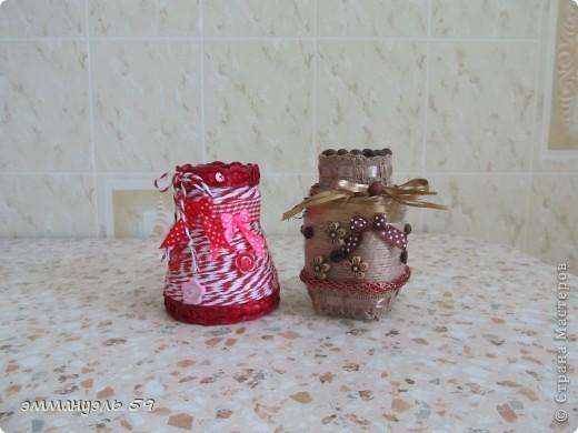 Баночки из-под кофе в очередной раз превратились в маленькие вазочки. фото 1