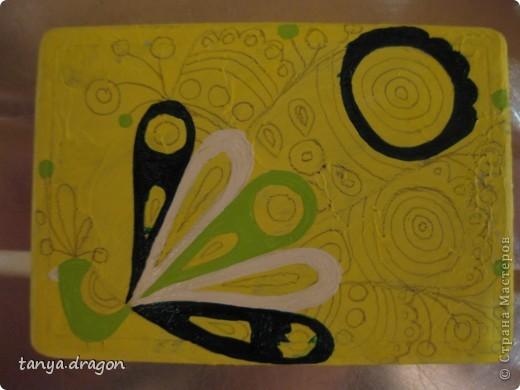 """надоели мне все магниты, висящие вразнобой на холодильнике, и решила я это """"дело"""" оформить в одном стиле, т.е. наляпать птичек)))))) фото 8"""