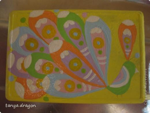 """надоели мне все магниты, висящие вразнобой на холодильнике, и решила я это """"дело"""" оформить в одном стиле, т.е. наляпать птичек)))))) фото 9"""