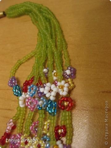 бусы и браслет - цветочки смотрится обалденно! фото 3