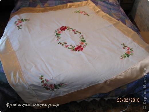 Вышивка Льняная скатерть с