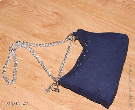 моя первая сумочка из старого джинса Для любимой племяшки! фото 5