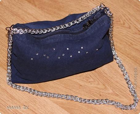 моя первая сумочка из старого джинса Для любимой племяшки! фото 3