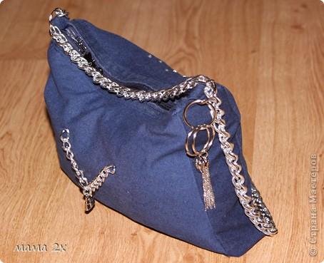 моя первая сумочка из старого джинса Для любимой племяшки! фото 2