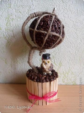 В преддверие 1го сентября захотелось сделать кофейный глобус)