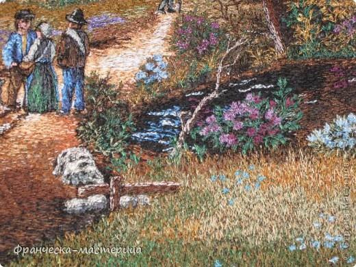 Картина размером 30 на 40 см. Вышивалась на холсте. Сюжет взят с оригинальной картины Дэниса Льюэна. фото 6