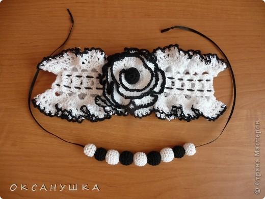 У племяшки скоро день рождения. У нее есть черный сарафан в белый горошек, думаю этот комплект к нему подойдет.  фото 1