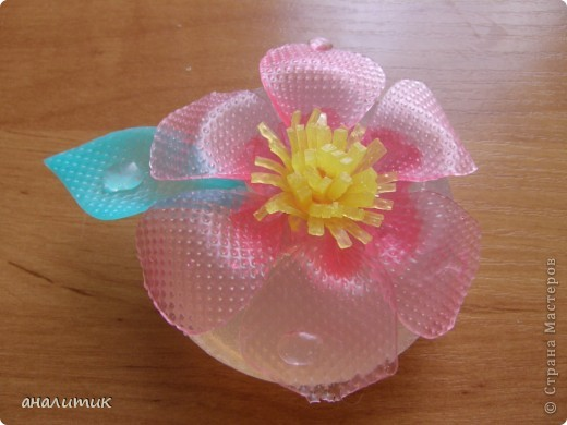 Цветок сделан по мастер-классу, найденому на просторах интернета фото 3