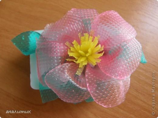 Цветок сделан по мастер-классу, найденому на просторах интернета фото 4