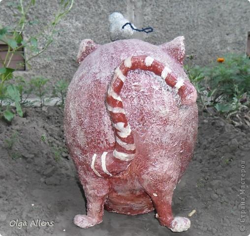 """Садовое повторение моего кота """" Кубик"""" . http://stranamasterov.ru/node/314526 Тут он гораздо больше и внушительнее)) фото 4"""