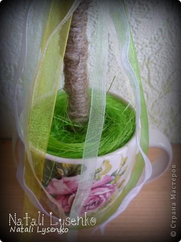 Весеннее настроение)Дерево с креповой бумаги фото 3