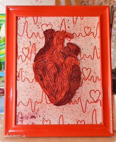 Есть у меня один человечек)))очень дорогой мне) он медик,безумно любит красный и отлично знает анатомию сердца)  Идея Лизы Нильссон и Сары Якаунис!  фото 1