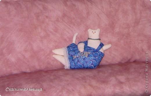 Мне предложили назвать эту кису-Тильду Феоной. Так, пожалуй, и сделаю. Это моя первая кукла, так что уж извините!