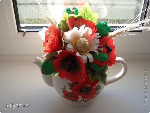 Чайник с маками фото 1