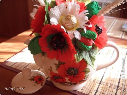 Чайник с маками фото 2
